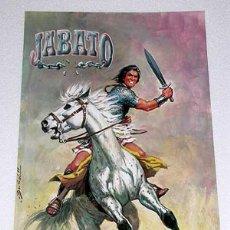 Cómics: EL JABATO A CABALLO. POSTER ILUSTRADO POR ANTONIO BERNAL. EDICIONES B, 1988.. Lote 195329228