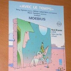 Cómics: FLYER PUBLICITARIO. AVEC LE TEMPS. DIBUJO DE MOEBIUS. ANUNCIO CONCIERTO FESTIVAL SONS D'IVER EN 2003. Lote 197108637