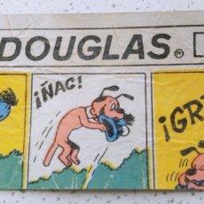 Cómics: ENVOLTORIO DE CHICLE MENTA DOUGLAS CON VIÑETAS DE EL NIÑO DOUGLAS (ESCOBAR) PERSONAJE BRUGUERA. Lote 197634176