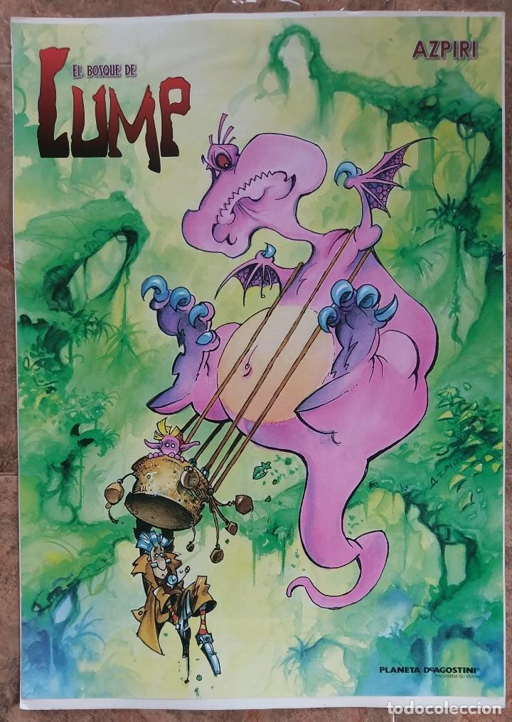 AZPIRI : EL BOSQUE DE LUMP CARTEL PROMOCIONAL DEL LIBRO DE PLANETA (Tebeos y Comics - Comics Merchandising)