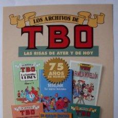 Cómics: PUBLICIDAD ARCHIVOS TBO,FAMILIA ULISES,BENEJAM,FAMILIA ROVELLON,COLL, EDICIONES B. Lote 203289620
