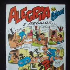 Cómics: ALEGRÍA A LITROS Y REGALOS . CUADERNILLO PUBLICITARIO KAS. MARTÍNEZ OSETE). Lote 204064063
