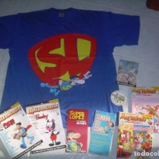 Fumetti: LOTE SUPERLOPEZ SUPER LOPEZ, JAN . CAMISETA, REVISTAS, FOLLETOS, TARJETA, PEGATINA. VER FOTOS. Lote 204350637