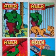 Comics : LOTE CUATRO LIBROS CUADERNOS PARA COLOREAR HULK LA MASA. NÚMEROS 1, 3, 4, 5. PUBLICACIÓN LAIDA. 1981. Lote 205678946