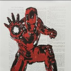 Cómics: IRONMAN ARTWORK (PINTURA) LARGE FORMAT. EDICIÓN LIMITADA BY ARTIST EMMA WILDFANG. Lote 209154971
