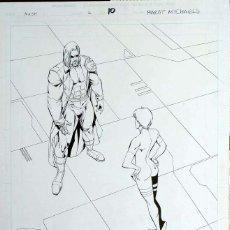 Comics : PÁGINA ORIGINAL DE NASH- MARAT MYCHAELS. Lote 54236811