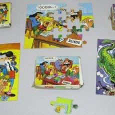 Cómics: LOTE 3 PUZZLES, OBSEQUIO DETERGENTE BONUX, MORTADELO Y FILEMON, ZIPI Y ZAPE, BRUGUERA, AÑOS 70. Lote 210427147