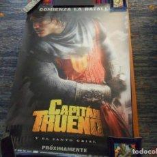 Cómics: CARTEL TEASER CAPITÁN TRUENO Y EL SANTO GRIAL. 98X69 CMS. MUY BUEN ESTADO.. Lote 210793845