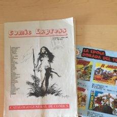 Cómics: CÓMIC EXPRESS NÚMERO 7- JUNIO 2001 + DOBLE HOJA FICHAS DE CÓMICS.VER 4 FOTOS. Lote 210812822