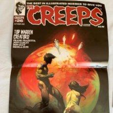 Cómics: POSTER FRANK FRAZETTA PORTADA THE CREEPS 26 - WARRANT PUBLISHING - CREEPY. Lote 211783590
