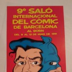 Cómics: POSTER - CARTEL - 9ª SALO INTERNACIONAL DEL COMIC DE BARCELONA AL BORN - MARTI. Lote 216376453
