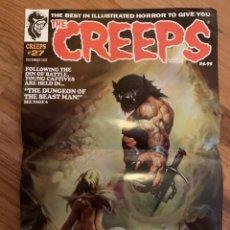 Cómics: POSTER KEN KELLY PORTADA THE CREEPS 27 - WARRANT PUBLISHING - CREEPY. Lote 217623748