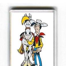 Cómics: IMAN ACRILICO NEVERA - COMIC DIBUJOS ANIMADOS LUCKY LUKE. Lote 95851776