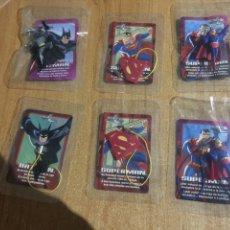 Cómics: LOTE 6 COLGANTES SUPERMAN Y BATMAN PHOSKITOS DC COMICS PRECINTADOS SIN USO. Lote 220987292