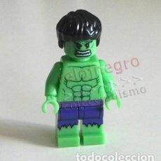 Cómics: LA MASA HULK PEQUEÑA FIGURA MUÑECO - SUPERHÉROE DE CÓMIC Y CINE FIGURITA JUGUETE COMPATIBLE CON LEGO. Lote 221126967