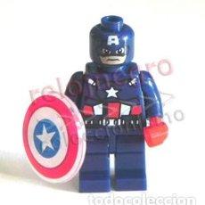 Cómics: CAPITÁN AMÉRICA PEQUEÑ FIGURA MUÑECO SUPERHÉROE DE CÓMIC Y CINE FIGURITA JUGUETE COMPATIBLE CON LEGO. Lote 221128681