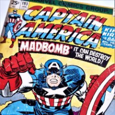 Comics: CAPITAN AMERICA LAMINA PAPEL POSTER ENMARCADA CON CRISTAL - 23.5 X 32.CM. Lote 221677156