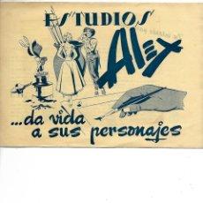 Cómics: LIBRETA ESTUDIOS ALEX DA VIDA A SUS PERSONAJES. Lote 225044810
