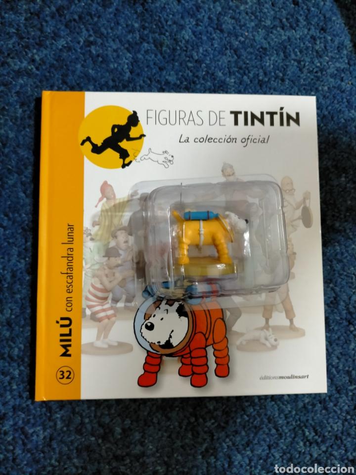 TINTIN FIGURA RESINA - 032 - MILU CON ESCAFANDRA LUNAR - MOULINSART COLECCION ESPAÑA (Tebeos y Comics - Comics Merchandising)