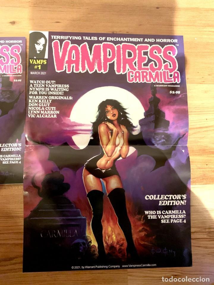 POSTER KEN KELLY PORTADA VAMPIRESS CARMILLA 1 - WARRANT PUBLISHING - CREEPY - THE CREEPS - EERIE (Tebeos y Comics - Comics Merchandising)