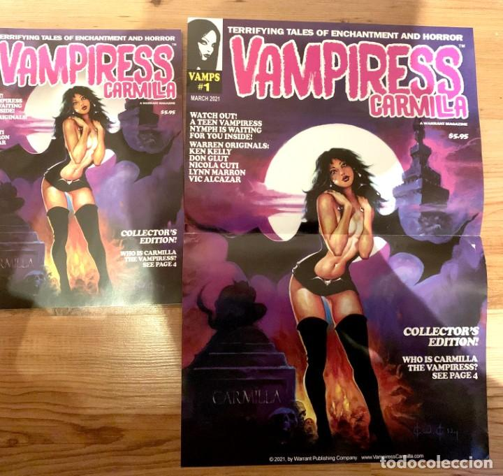 Cómics: POSTER KEN KELLY PORTADA VAMPIRESS CARMILLA 1 - WARRANT PUBLISHING - CREEPY - THE CREEPS - EERIE - Foto 2 - 232431330