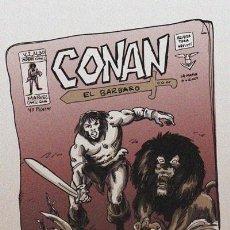 Comics : RECREACIÓN PORTADA DE VÉRTICE: CONAN EL BÁRBARO Nº30. A3 + ORIGINAL DEFENSORES. RESERVADO MARTI DE O. Lote 236525960