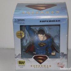 Cómics: BUSTO SUPERMAN RETURNS 13CM ( EDICION LIMITADA ) EN SU CAJA. Lote 236818160