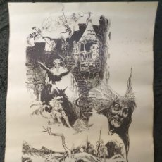Cómics: CARTEL POSTER - ESTEBAN MAROTO - 1972 - GALERIA LAZARO - PREMIO FOREING COMIC AWARD - 69,5X50CM. Lote 238542850