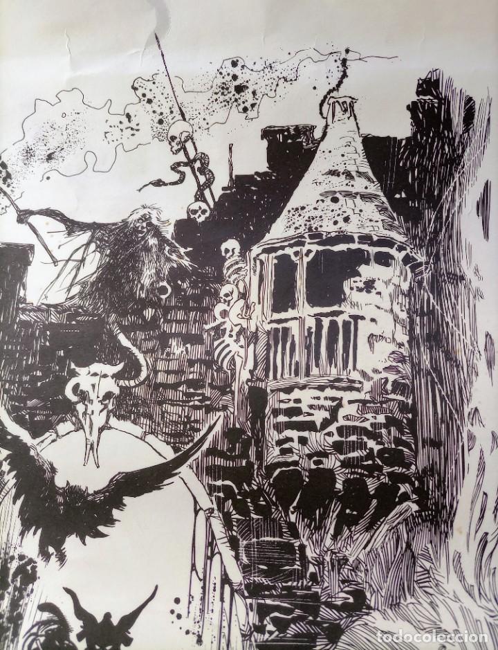 Cómics: CARTEL POSTER - ESTEBAN MAROTO - 1972 - GALERIA LAZARO - premio FOREING COMIC AWARD - 69,5x50cm - Foto 3 - 238542850
