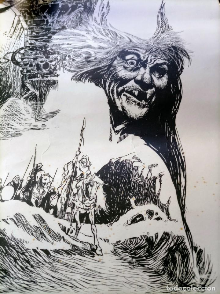 Cómics: CARTEL POSTER - ESTEBAN MAROTO - 1972 - GALERIA LAZARO - premio FOREING COMIC AWARD - 69,5x50cm - Foto 4 - 238542850