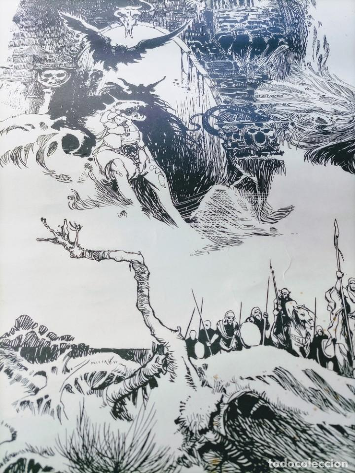 Cómics: CARTEL POSTER - ESTEBAN MAROTO - 1972 - GALERIA LAZARO - premio FOREING COMIC AWARD - 69,5x50cm - Foto 6 - 238542850
