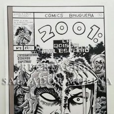 Cómics: ORIGINAL EN A3 RECREANDO LA PORTADA DEL Nº 2 DE 2001, ODISEA DEL ESPACIO, DE JACK KIRBY. BRUGUERA. Lote 238533245