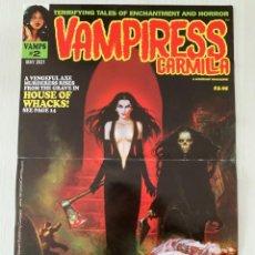 Cómics: POSTER SANJULIAN PORTADA VAMPIRESS CARMILLA 2 - WARRANT PUBLISHING - CREEPY - THE CREEPS - EERIE. Lote 244009835