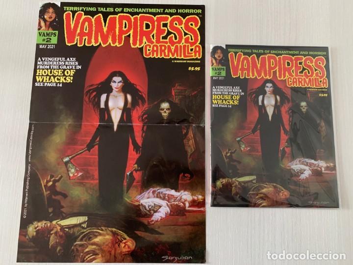 Cómics: POSTER SANJULIAN PORTADA VAMPIRESS CARMILLA 2 - WARRANT PUBLISHING - CREEPY - THE CREEPS - EERIE - Foto 2 - 244009835