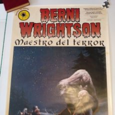 Cómics: BERNI WRIGHTSON CARTEL 100X70 CM APROX MAESTRO DEL TERROR. Lote 244642350