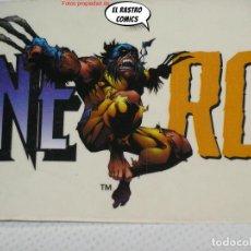 Cómics: WOLVERINE ROCKS!, PEGATINA DE FONDO TRANSPARENTE, 24X7 CM, LOBEZNO, MARVEL. Lote 244781735