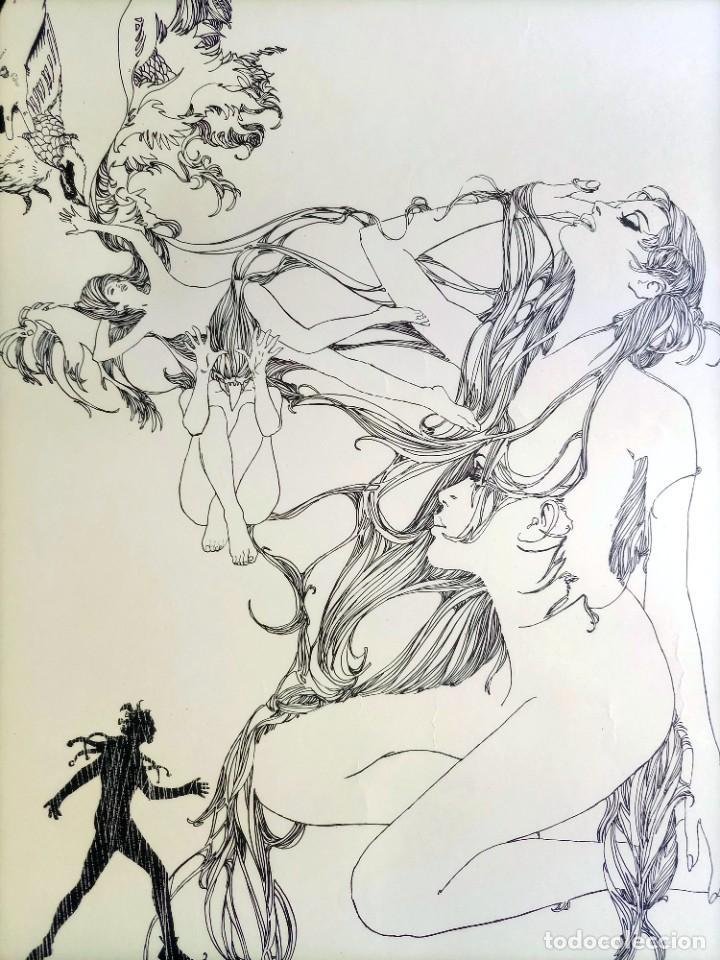 Cómics: CARTEL POSTER - ESTEBAN MAROTO - 1972 - GALERIA LAZARO - premio FOREING COMIC AWARD - 69,5x50cm - Foto 2 - 251117155