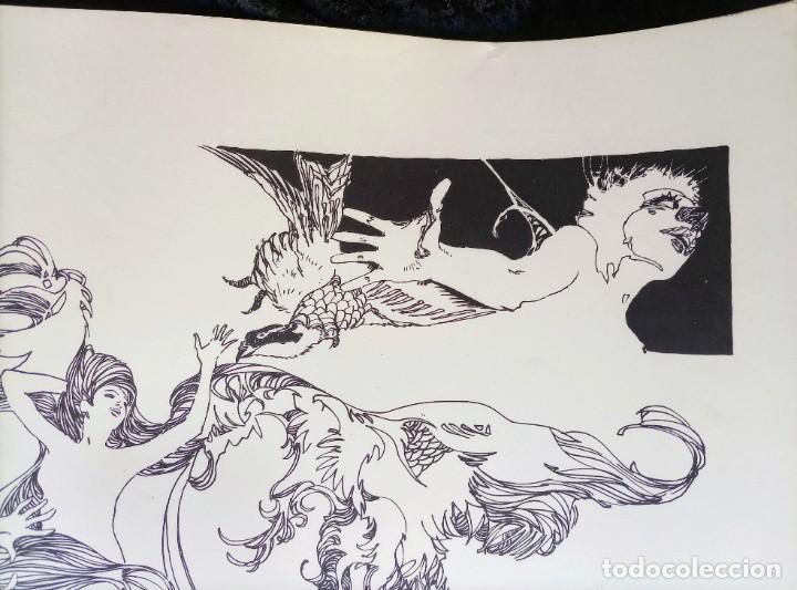 Cómics: CARTEL POSTER - ESTEBAN MAROTO - 1972 - GALERIA LAZARO - premio FOREING COMIC AWARD - 69,5x50cm - Foto 6 - 251117155