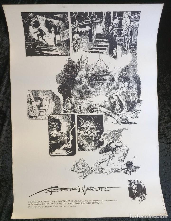 CARTEL POSTER - ESTEBAN MAROTO - 1972 - GALERIA LAZARO - PREMIO FOREING COMIC AWARD - 69,5X50CM (Tebeos y Comics - Comics Merchandising)