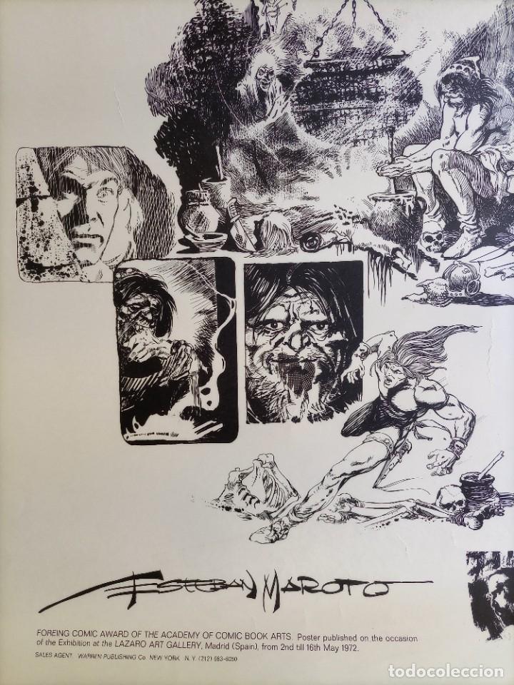 Cómics: CARTEL POSTER - ESTEBAN MAROTO - 1972 - GALERIA LAZARO - premio FOREING COMIC AWARD - 69,5x50cm - Foto 2 - 251117825