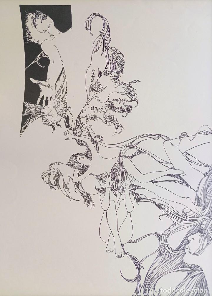 Cómics: CARTEL POSTER - ESTEBAN MAROTO - 1972 - GALERIA LAZARO - premio FOREING COMIC AWARD - 69,5x50cm - Foto 2 - 251118910