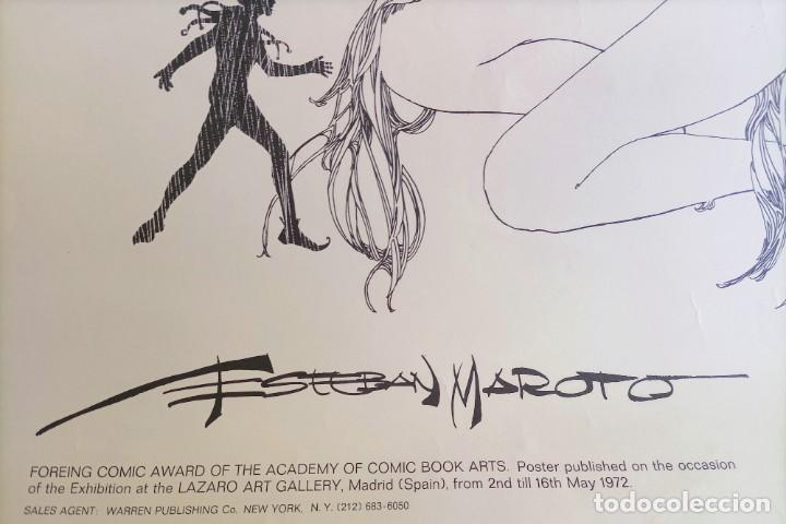 Cómics: CARTEL POSTER - ESTEBAN MAROTO - 1972 - GALERIA LAZARO - premio FOREING COMIC AWARD - 69,5x50cm - Foto 5 - 251118910