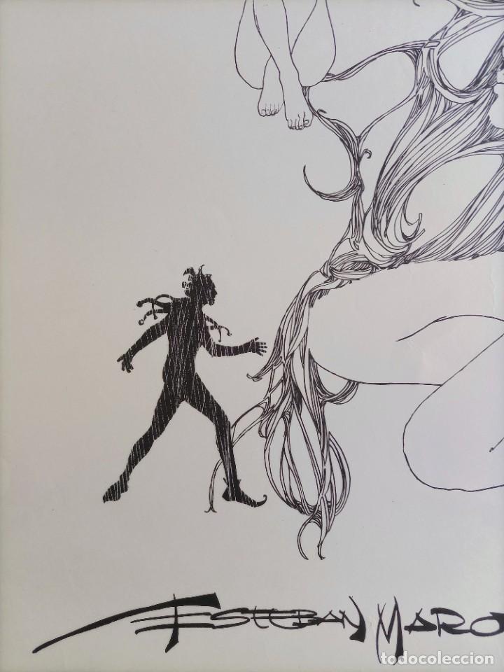 Cómics: CARTEL POSTER - ESTEBAN MAROTO - 1972 - GALERIA LAZARO - premio FOREING COMIC AWARD - 69,5x50cm - Foto 7 - 251118910