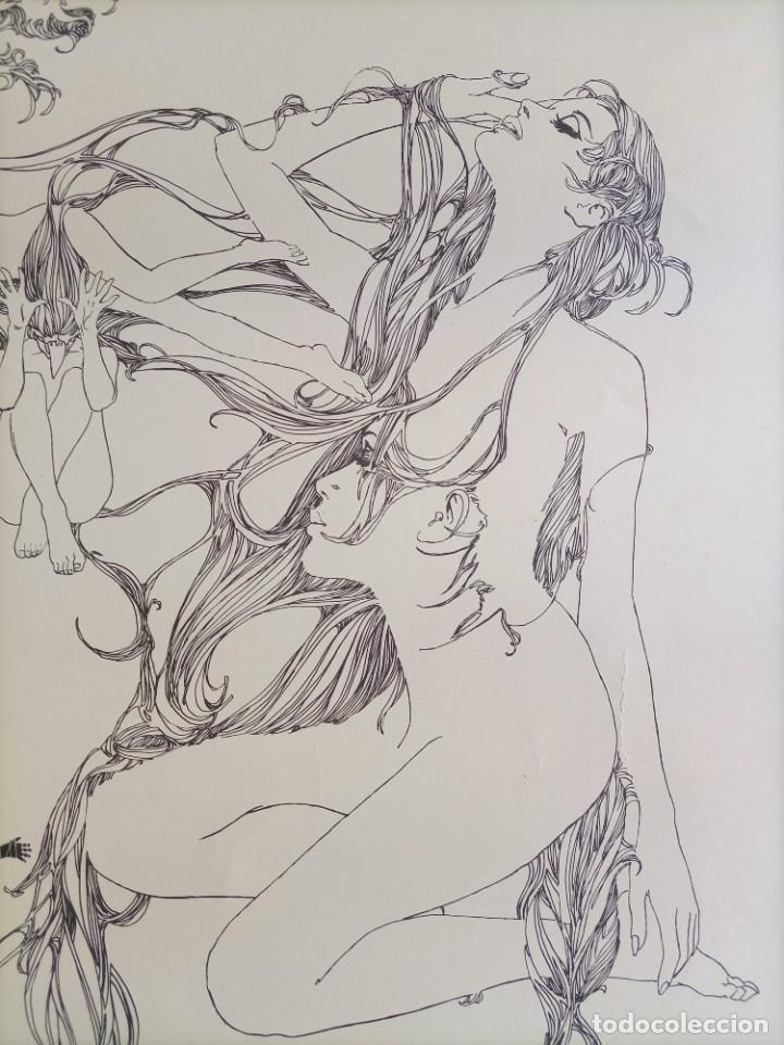 Cómics: CARTEL POSTER - ESTEBAN MAROTO - 1972 - GALERIA LAZARO - premio FOREING COMIC AWARD - 69,5x50cm - Foto 8 - 251118910