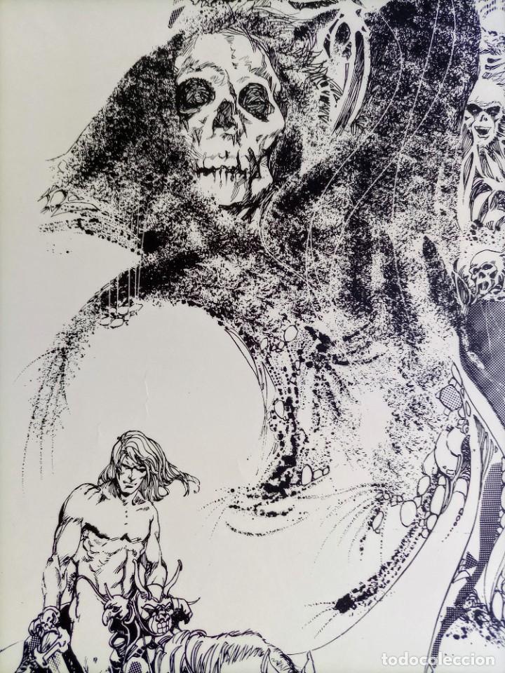 Cómics: CARTEL POSTER - ESTEBAN MAROTO - 1972 - GALERIA LAZARO - premio FOREING COMIC AWARD - 69,5x50cm - Foto 3 - 251119260