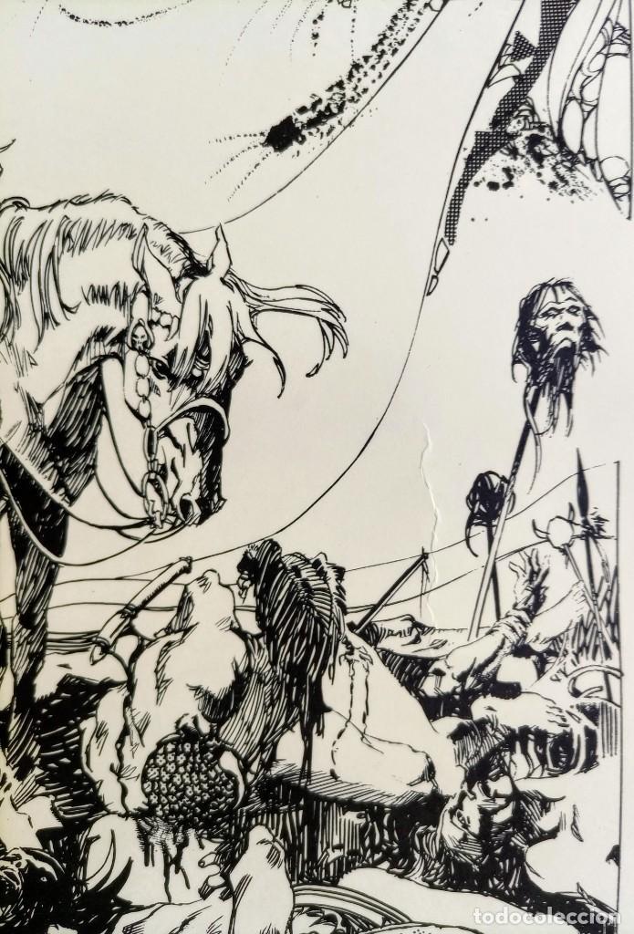 Cómics: CARTEL POSTER - ESTEBAN MAROTO - 1972 - GALERIA LAZARO - premio FOREING COMIC AWARD - 69,5x50cm - Foto 5 - 251119260