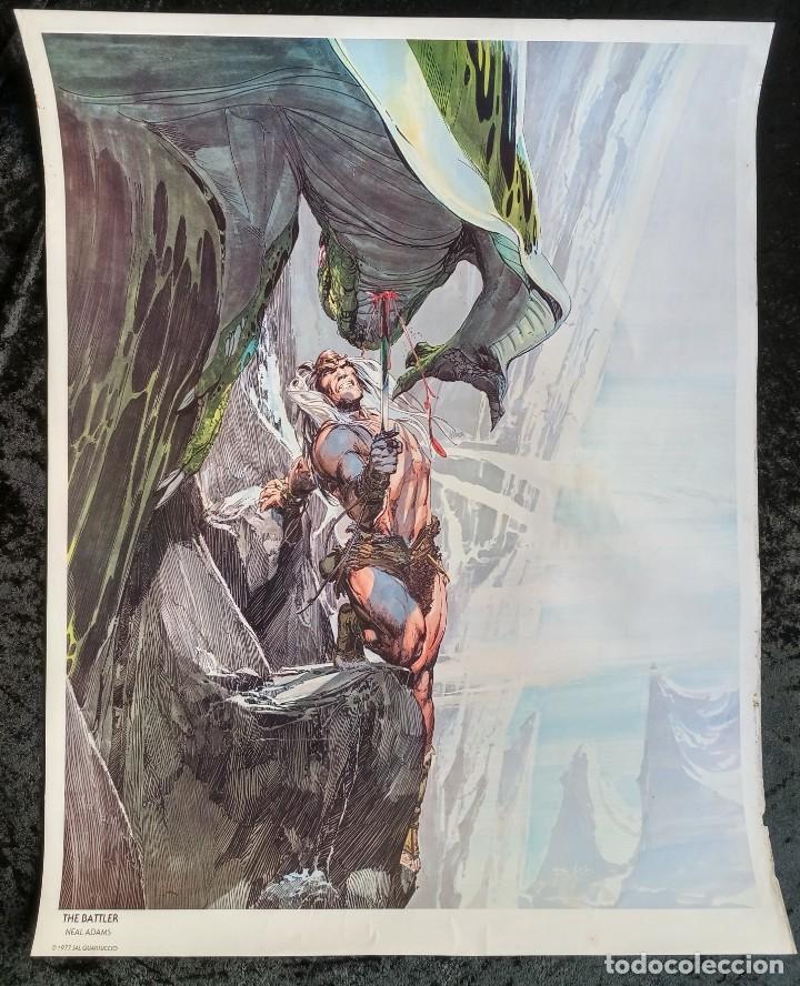 CARTEL POSTER - THE BATTLER - NEAL ADAMS - 57,5X46 CM - 1977 SAL QUARTUCCIO (Tebeos y Comics - Comics Merchandising)