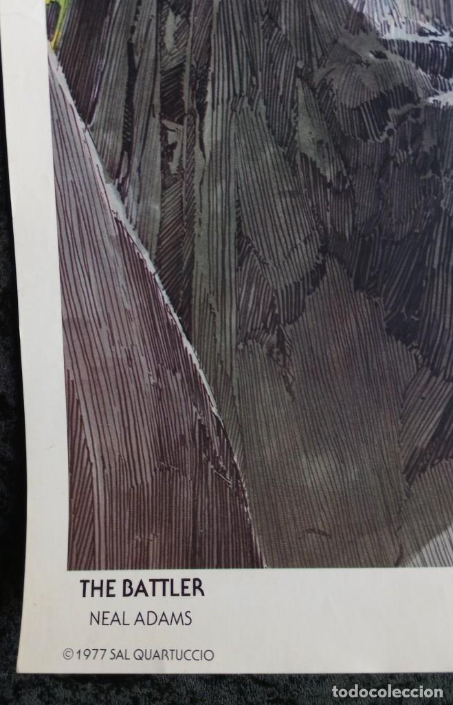 Cómics: CARTEL POSTER - THE BATTLER - NEAL ADAMS - 57,5x46 cm - 1977 SAL QUARTUCCIO - Foto 7 - 251125015