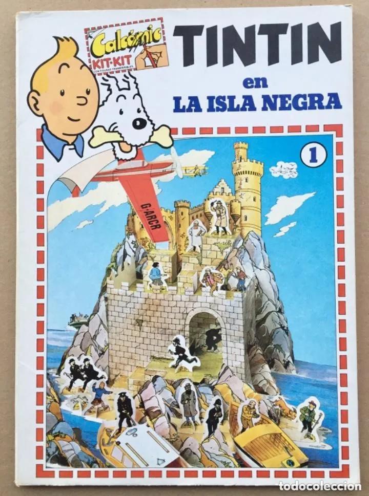 TINTÍN CALCOMIC ORIGINAL LA ISLA NEGRA NEGRA INCOMPLETO (Tebeos y Comics - Comics Merchandising)