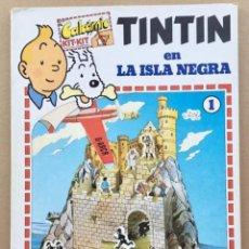 Cómics: TINTÍN CALCOMIC ORIGINAL LA ISLA NEGRA NEGRA INCOMPLETO. Lote 251620365